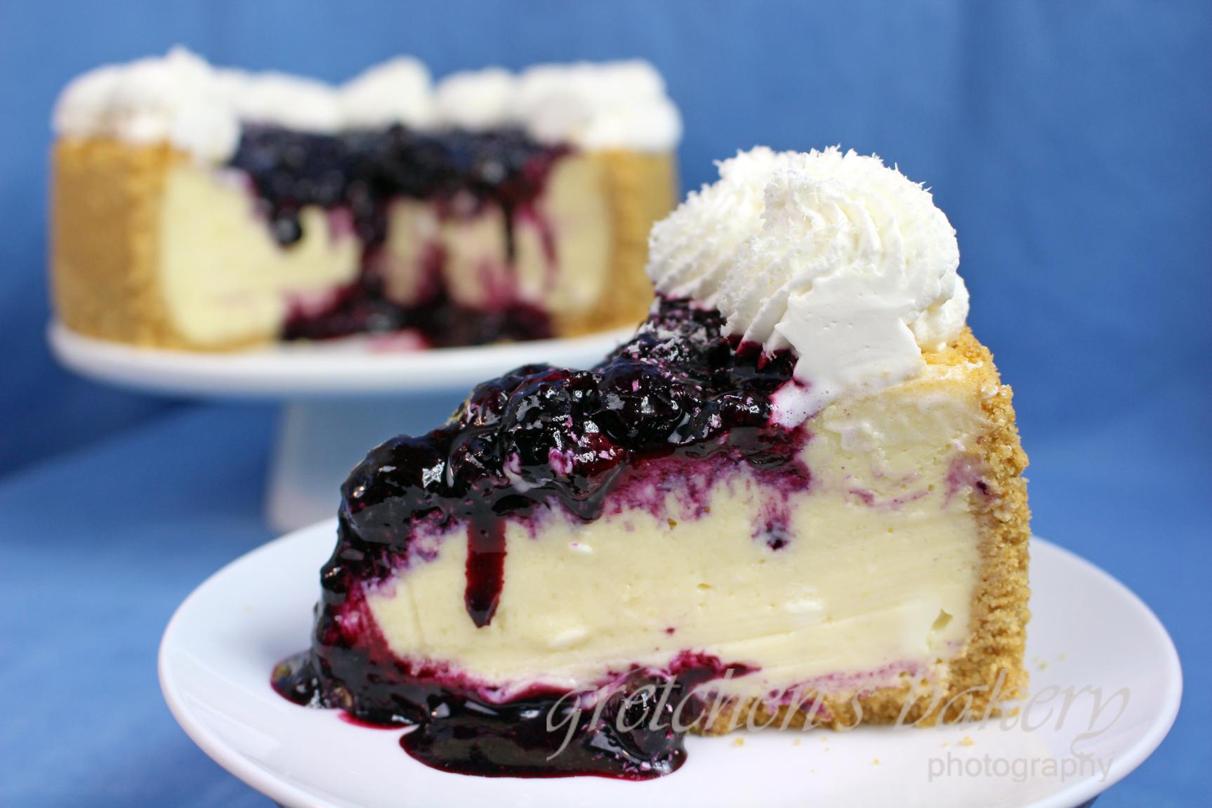 Vegan White Chocolate Blueberry Cheesecake