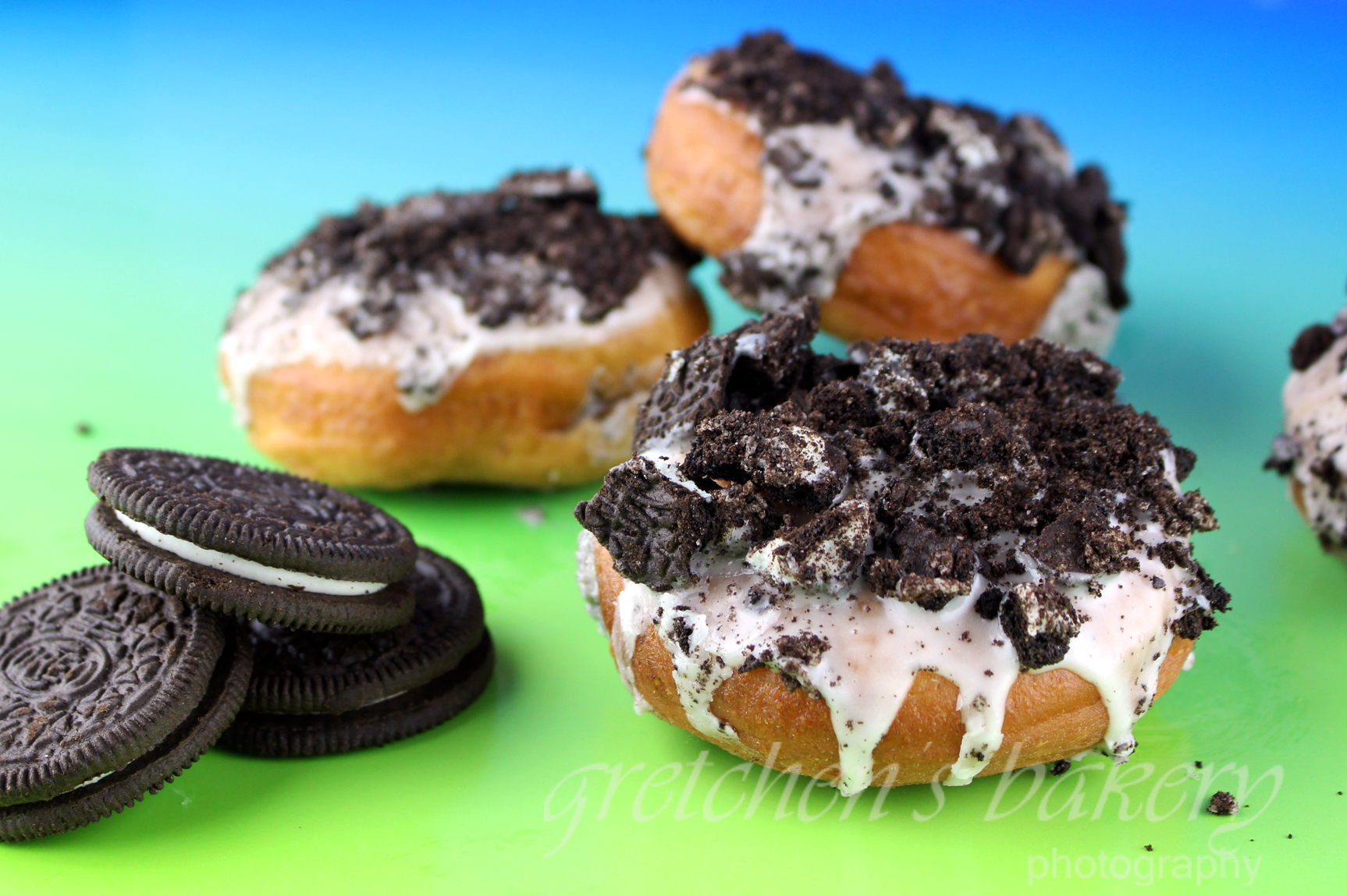 Vegan Oreo Cookies and Cream Donut