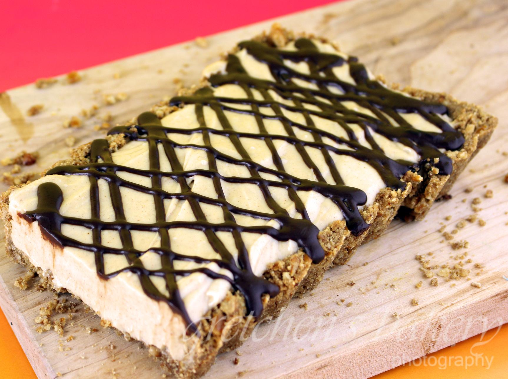 Peanut Butter Mousse Pretzel Tart