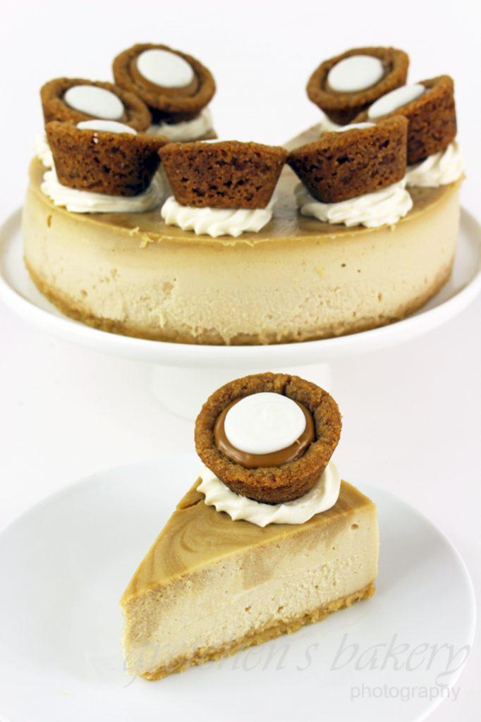 Vegan Biscoff Cookie Butter Cheesecake