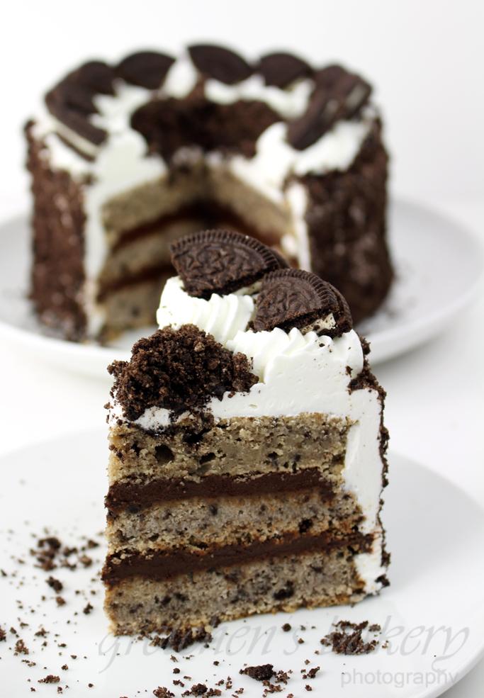 Vegan Cookies and Cream and Custard Cake