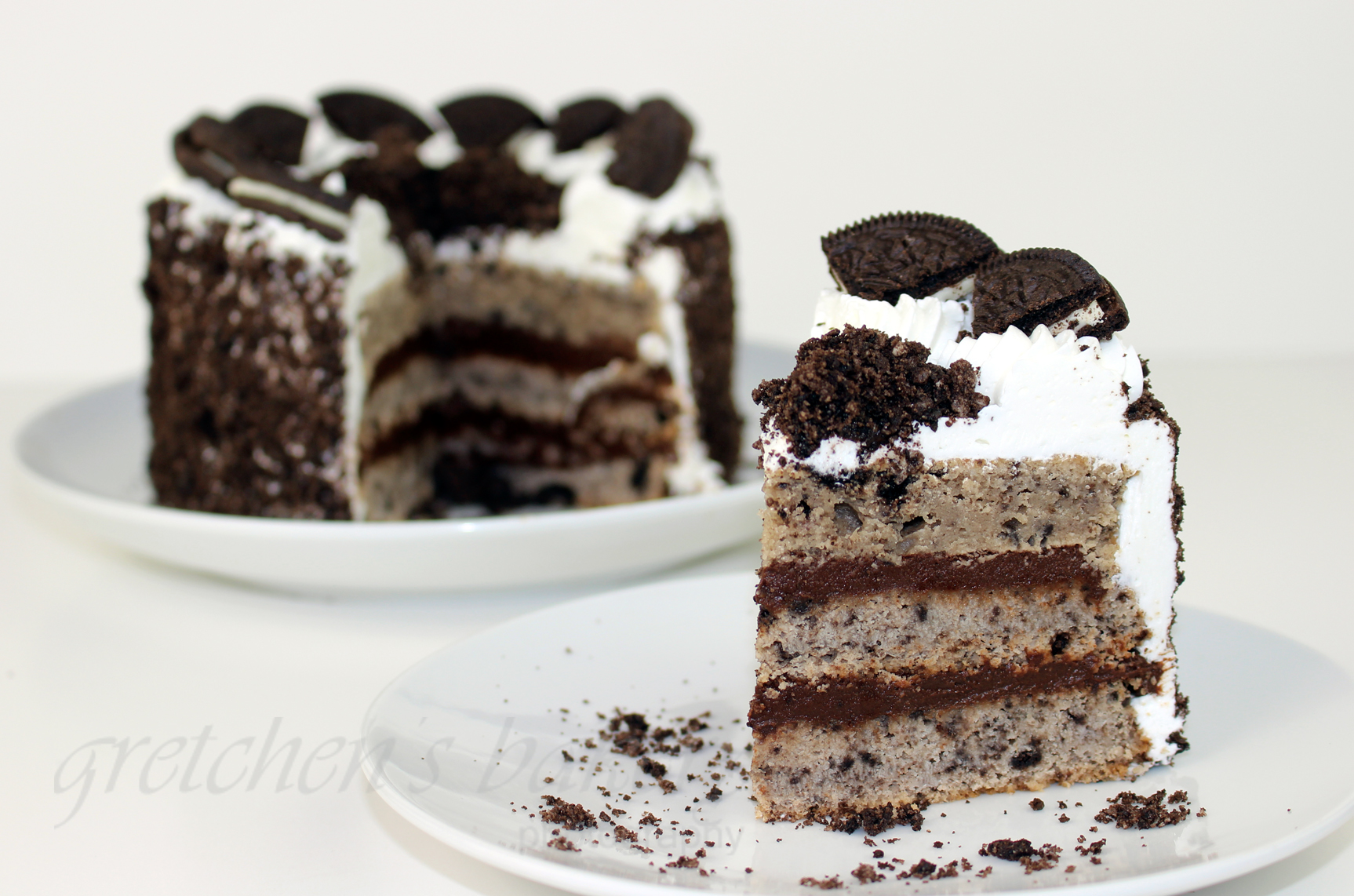 Chocolate Custard Layer Cake