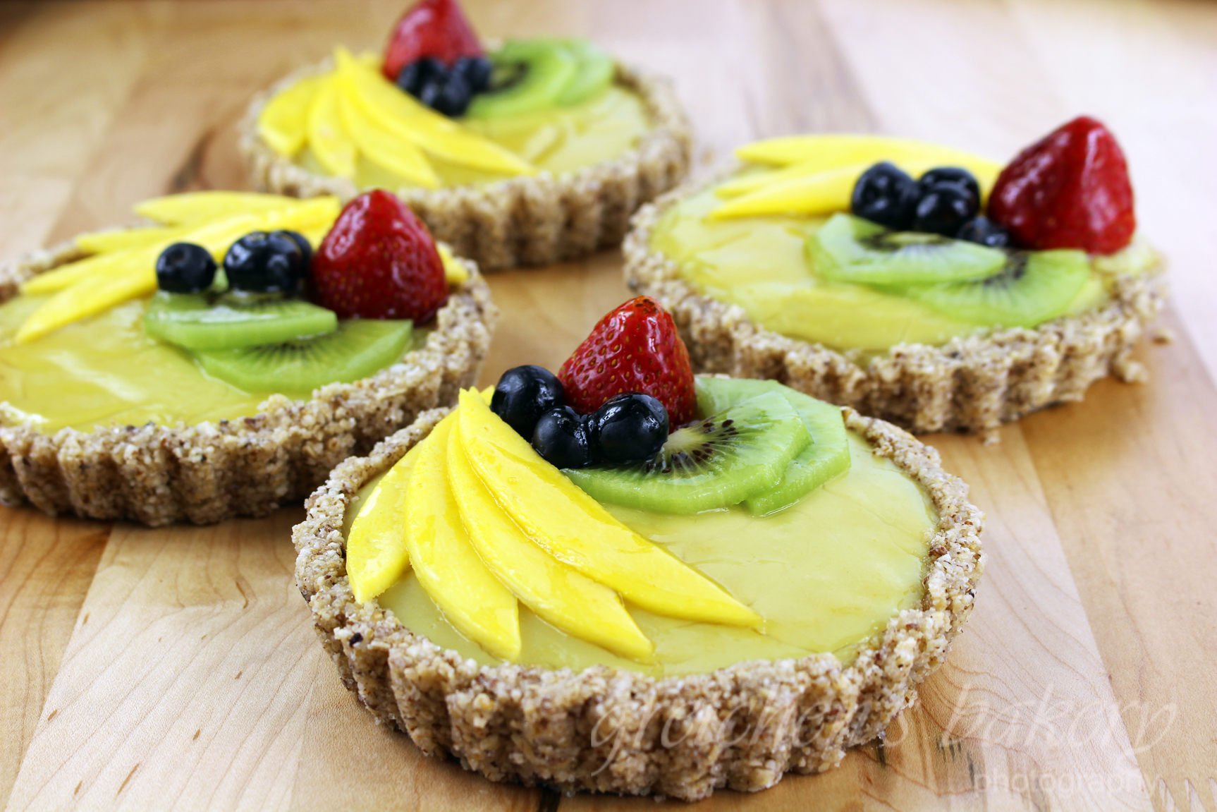 No Bake Summer Fruit & Custard Tart