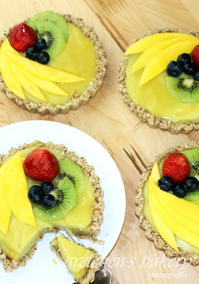 No Bake Summer Fruit & Custard Tart