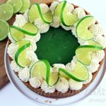 No Bake Key Lime Pie Cheesecake (v)