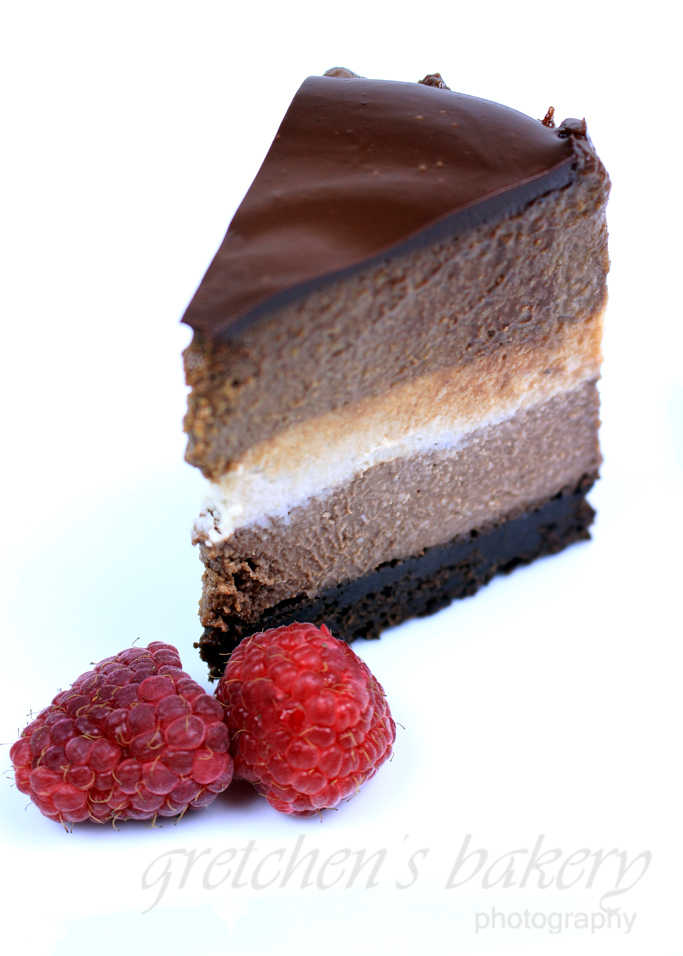 No Bake Vegan Tri Layer Cheesecake