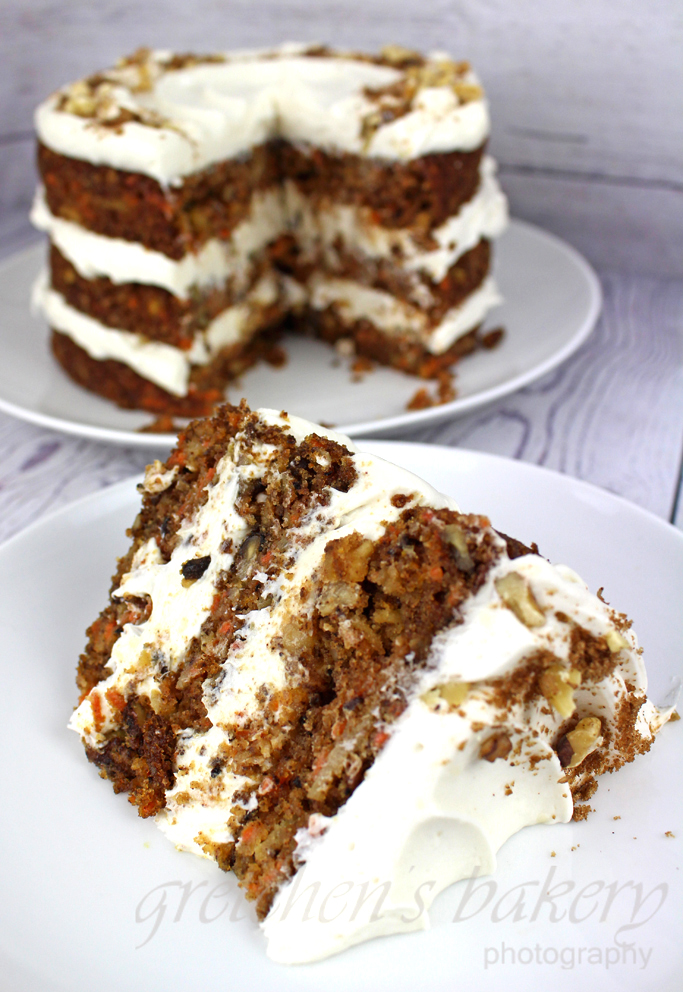 Vegan Carrot Cake with Cream Cheese Icing