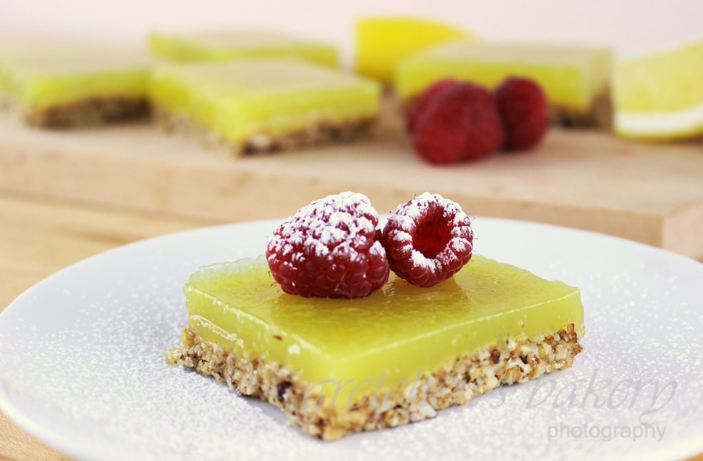 No Bake Vegan Lemon bars
