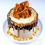 Peanut Butter Fudge Brittle Cake