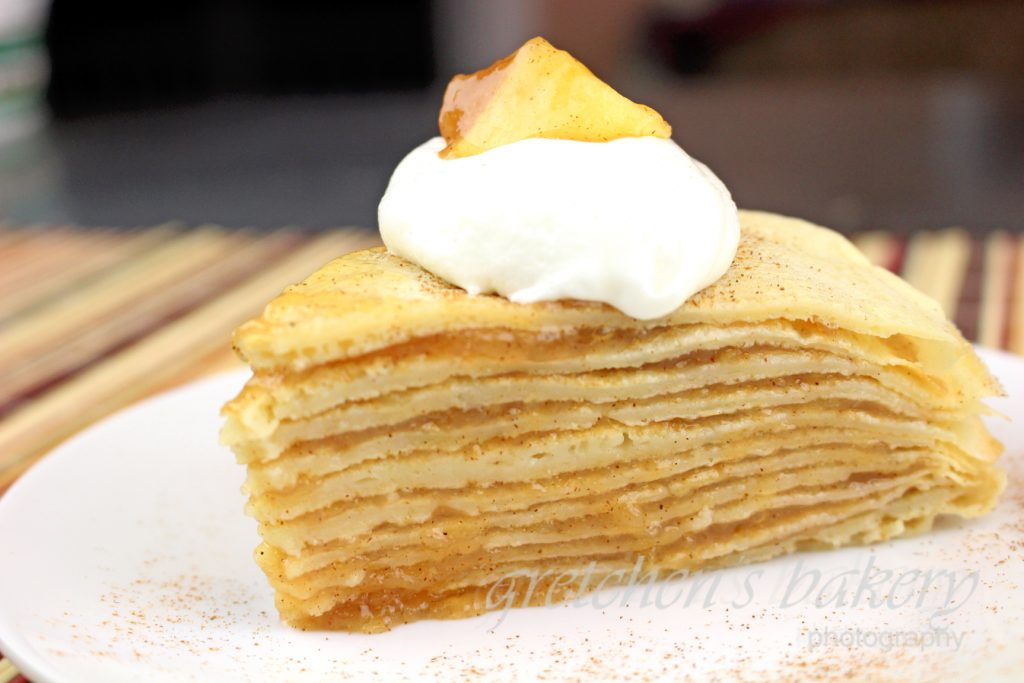 Vegan Apple Crepe Cake