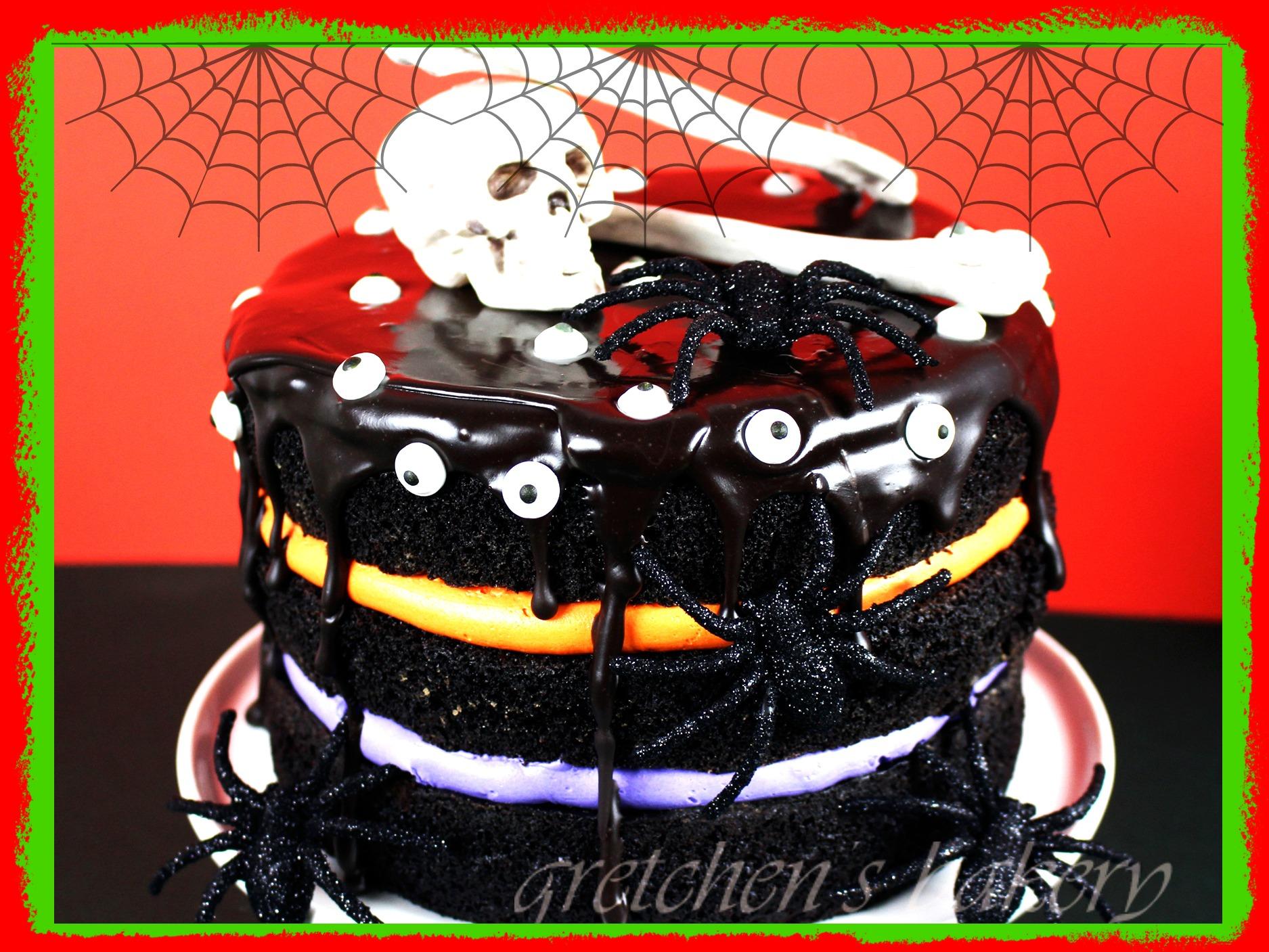 Vegan Black Chocolate Cake for halloween!
