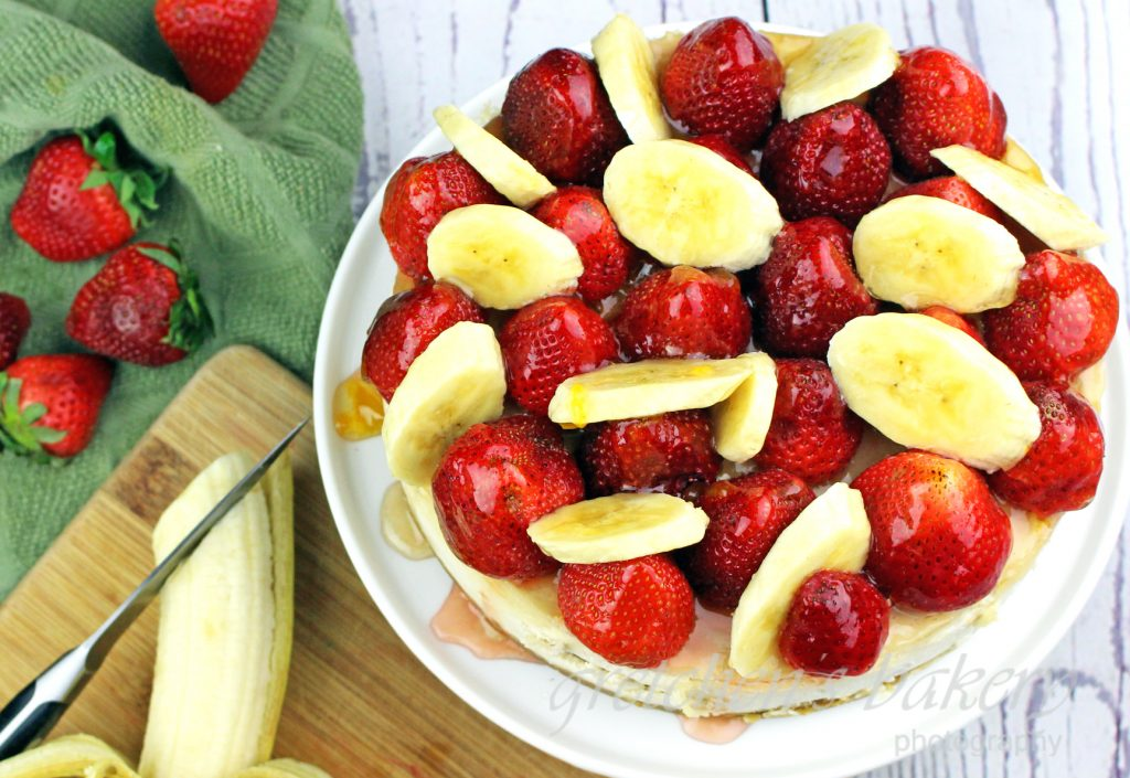 Strawberry Banana Cheesecake
