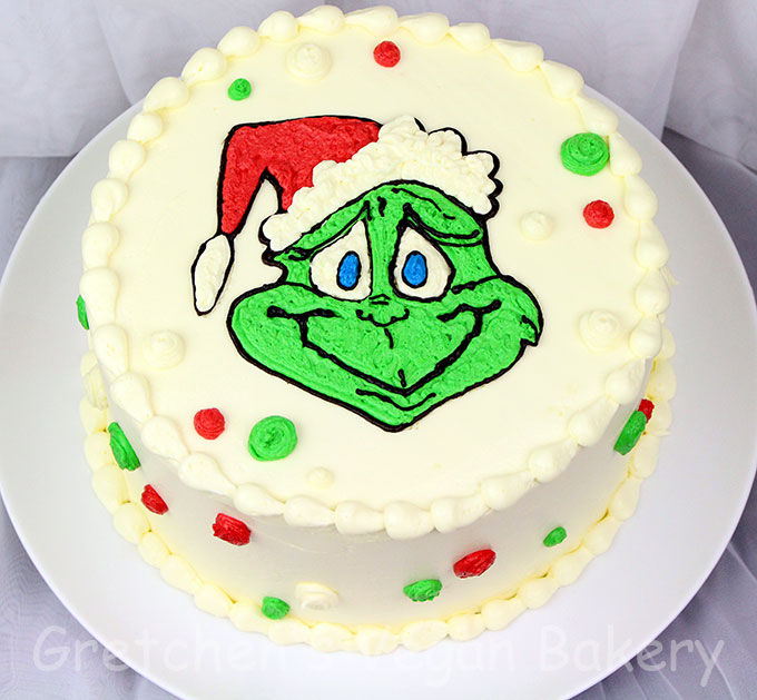 Easy Grinch Cake~ 2 recipes no special tools!