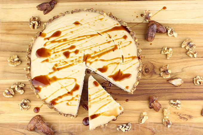 Raw No Bake Maple Cream Cake