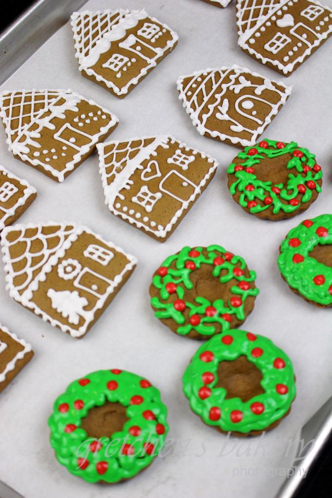 Vegan Gingerbread House Cookies