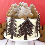 Winter Wonderland Vegan Gingerbread Cake