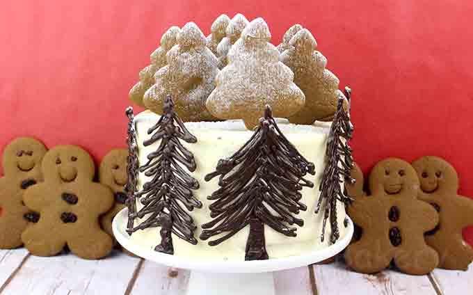 Winter Wonderland Vegan Gingerbread Cake