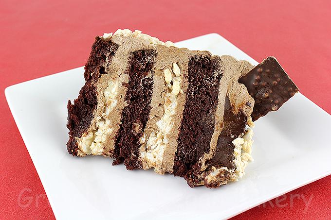 Rice Krispy Crunch Bar Cake