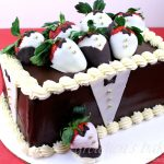 Tuxedo Strawberry Cake