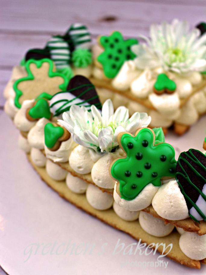 St. Patrick's Day Cookie & Cream Cake