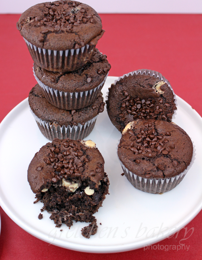 Vegan Triple Chocolate Muffins