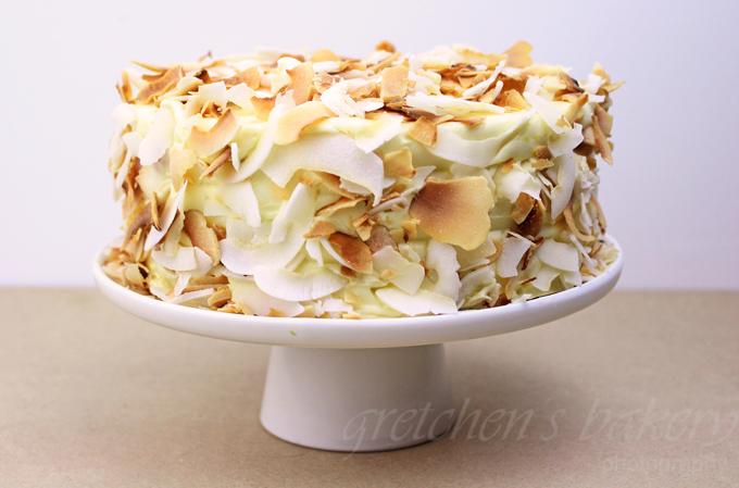 Coconut Orange Fudge Cake