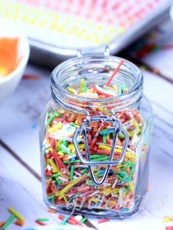 Homemade Sprinkles! vegan gluten free