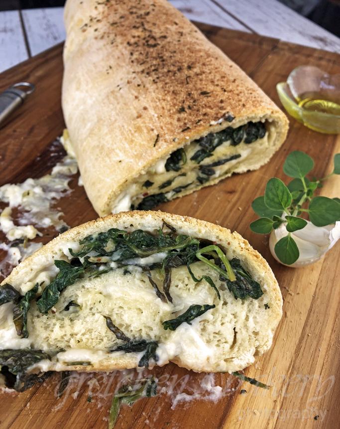 Spinach Provolone Stromboli