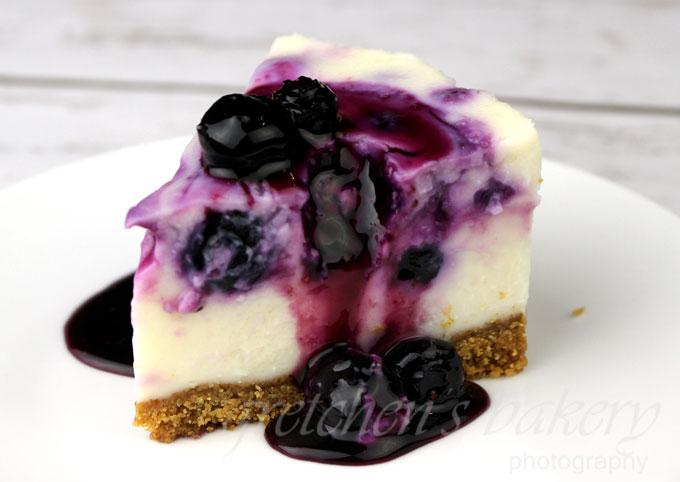 No Bake White Chocolate Blueberry Cheesecake