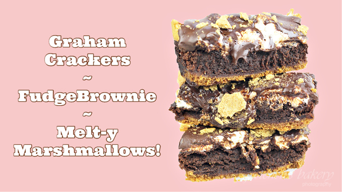 S'mores Fudge Brownie Bars