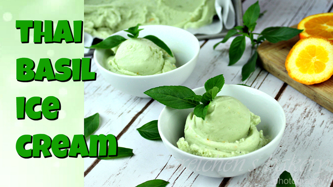 Basil Ice Cream~ Vegan