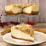 Vegan Apple Crumb Cheesecake