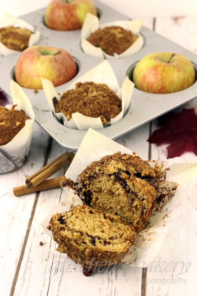 Cinnamon Apple Walnut Muffins