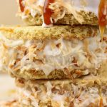 Toasted Coconut Carame Ice Cream Sandwiches