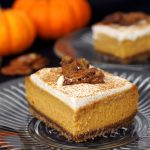 Vegan Pumpkin Pie Cheesecake Bars