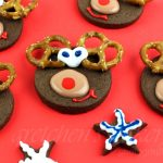 Vegan Chocolate Shortbread Reindeer Cookies
