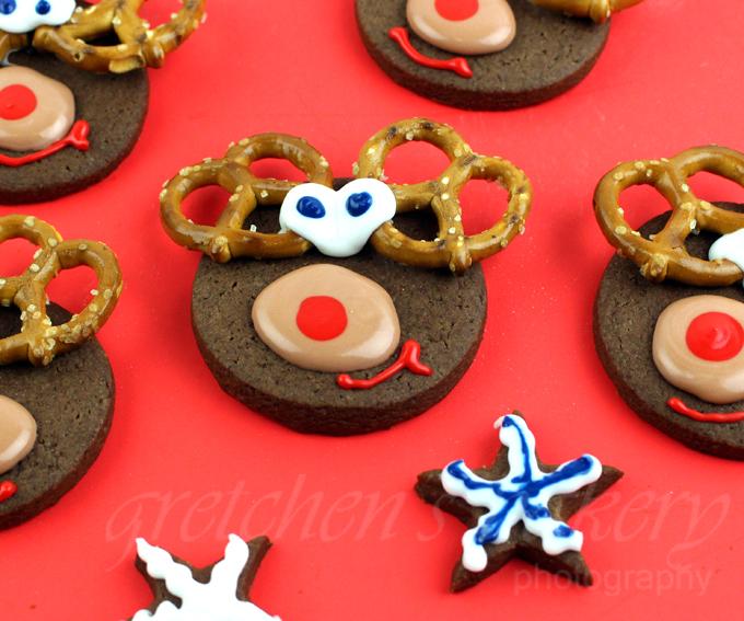 Vegan Chocolate Shortbread Reindeer Cookies