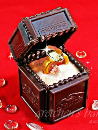 Sugar Engagement Ring in Edible Chocolate Box
