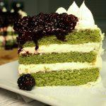 Moringa Lemon Blackberry Cake