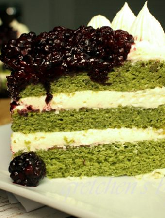 Moringa Lemon Blackberry Cake