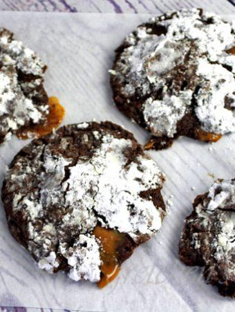 Vegan Caramel Volcano Cookies