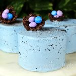 Chocolate Peanut Butter Speckle Cakes for Easter