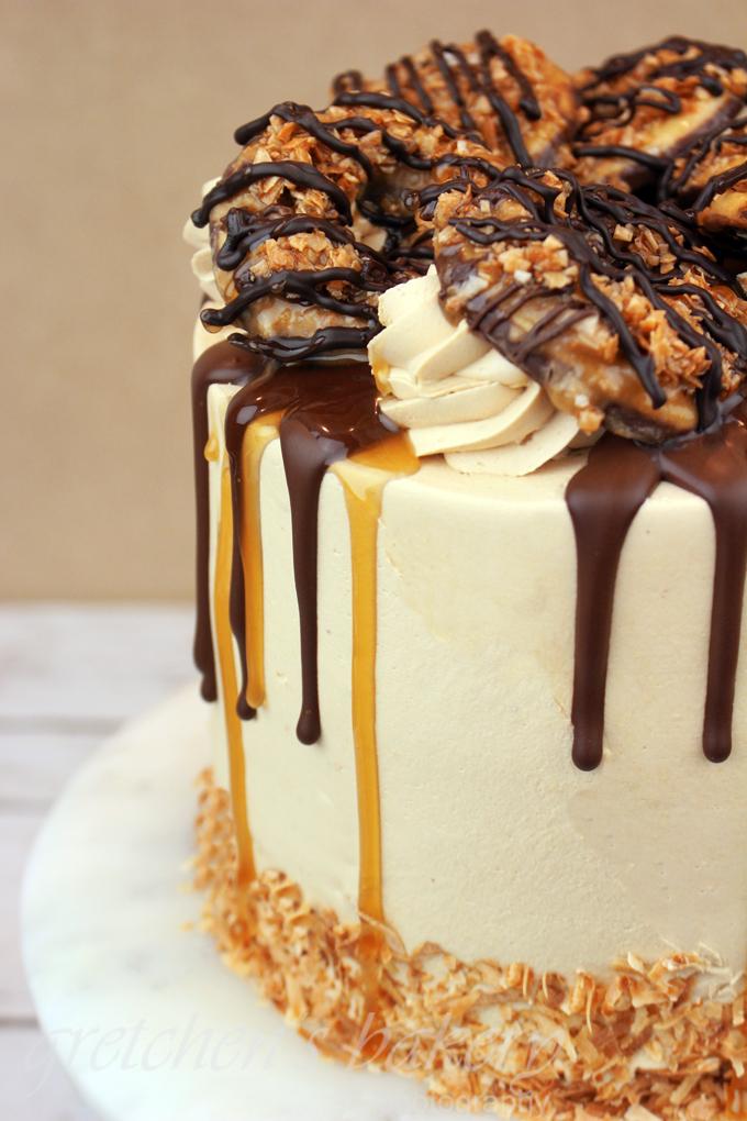 Girl Scout Samoa Cake