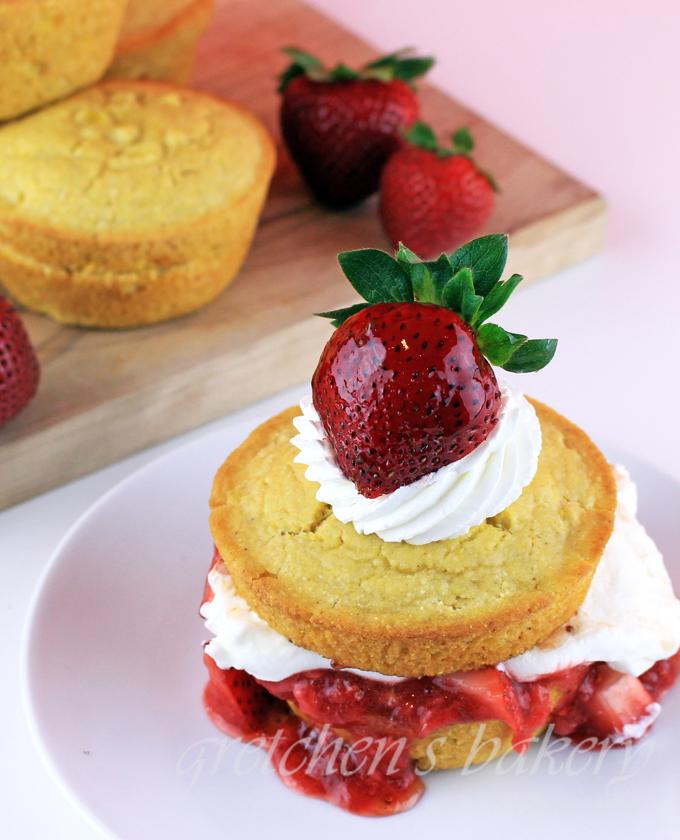 Strawberry Corn Cakes