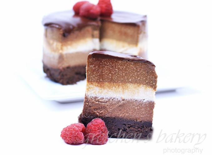 Triple Layer Cheesecake~ No Bake ~ Vegan