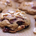 Salted Peanut Butter Banana Chocolate Chunk Cookies