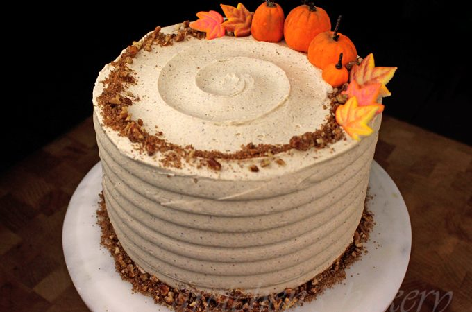 Pumpkin Cake with Pumpkin Spice Buttercream