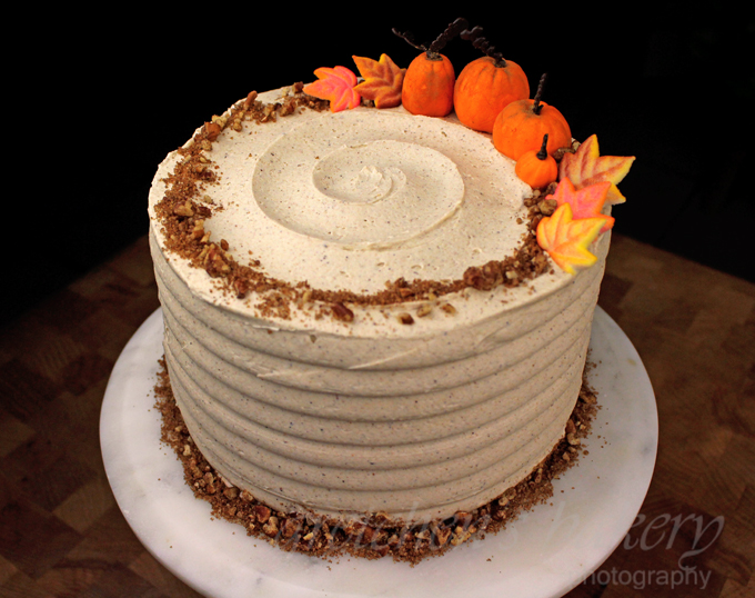 Pumpkin Velvet Cake with Pumpkin Spice Buttercream
