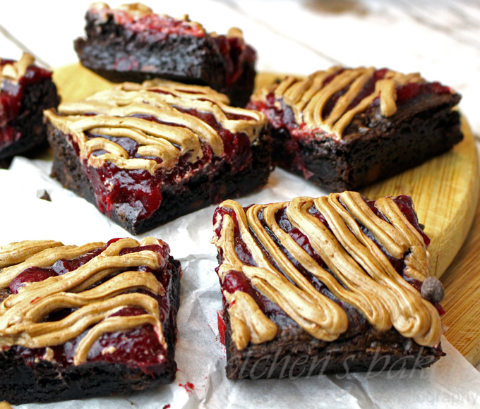 Cranberry Mocha Fudge Brownies