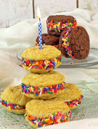 Birthday Cake Whoopie Pies!